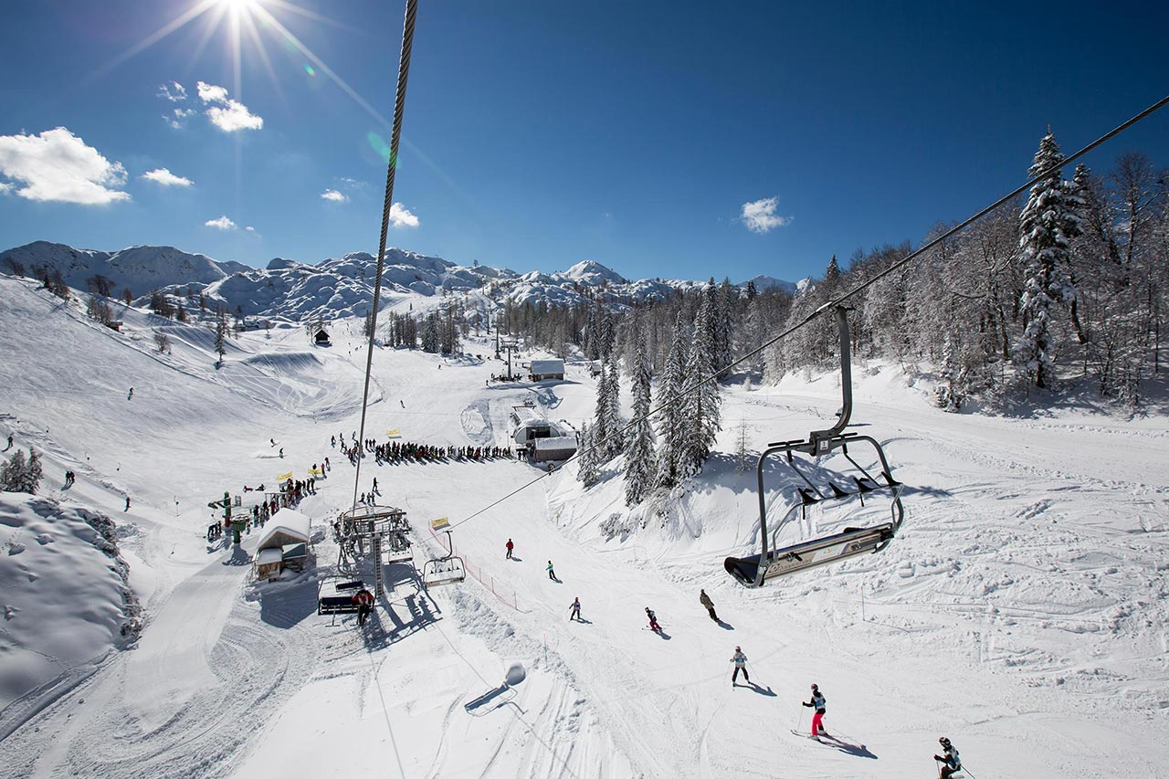 Ski holidays in Slovenia. Lake Bled Skiing